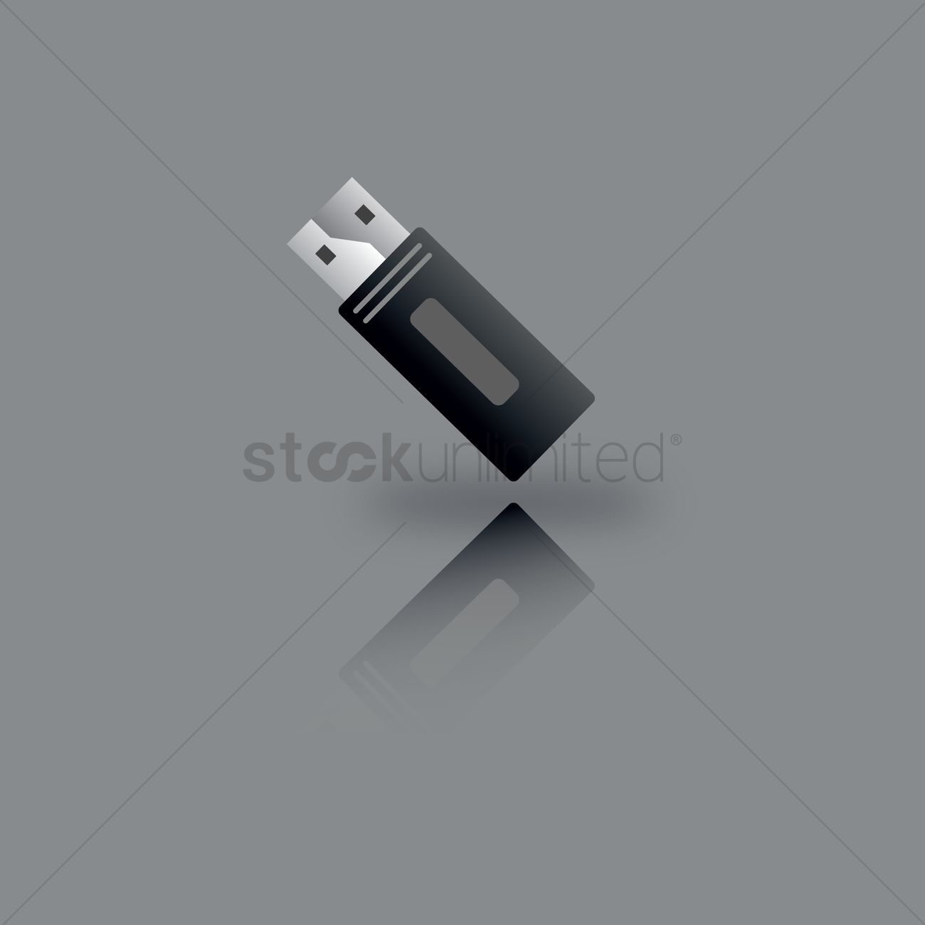 Usb flash drive vector illustration