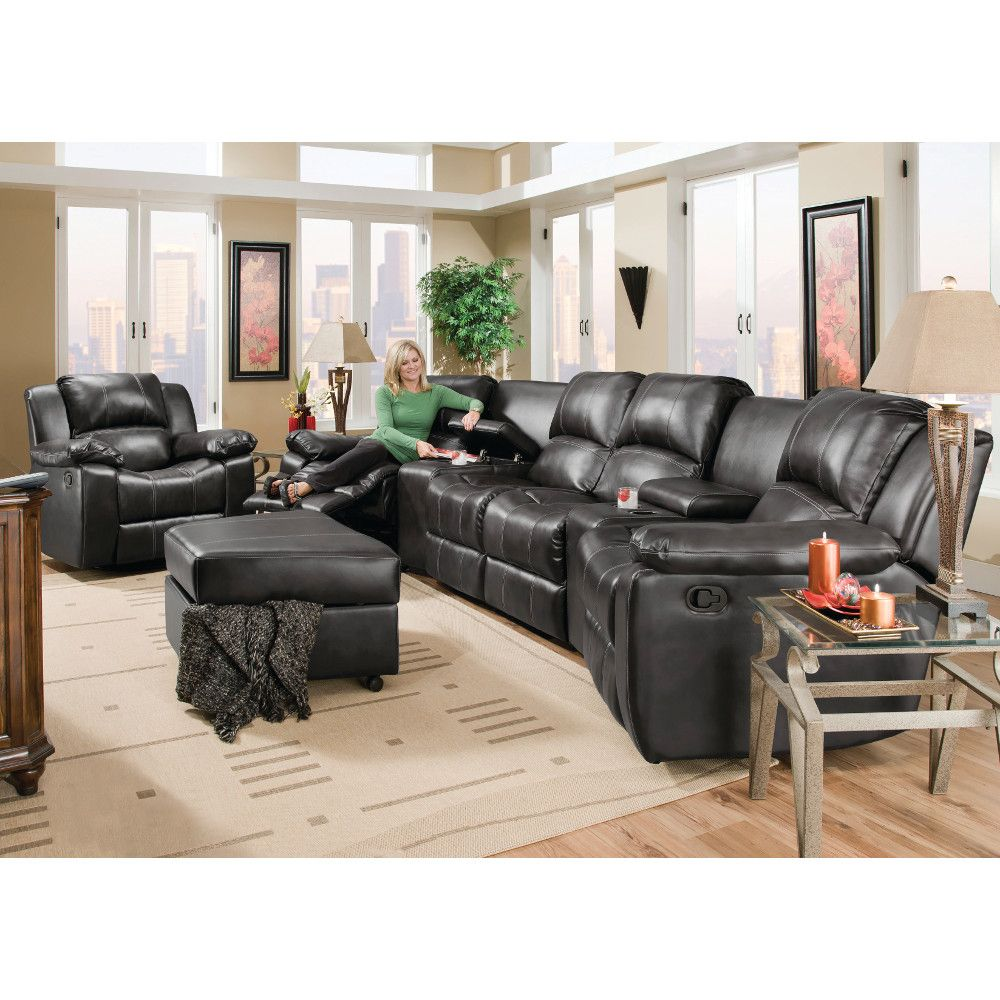 Peachy Flick Home Theater 2 Recliners 2 Consoles Reclining Evergreenethics Interior Chair Design Evergreenethicsorg