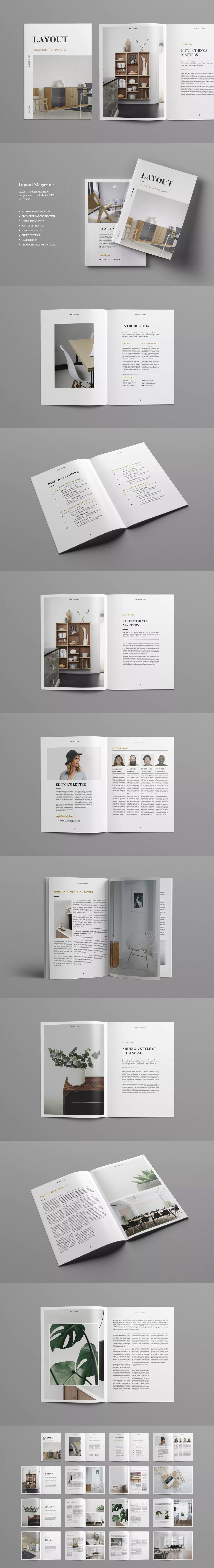 Magazine Template InDesign INDD - A4 & US Letter | Magazine ...