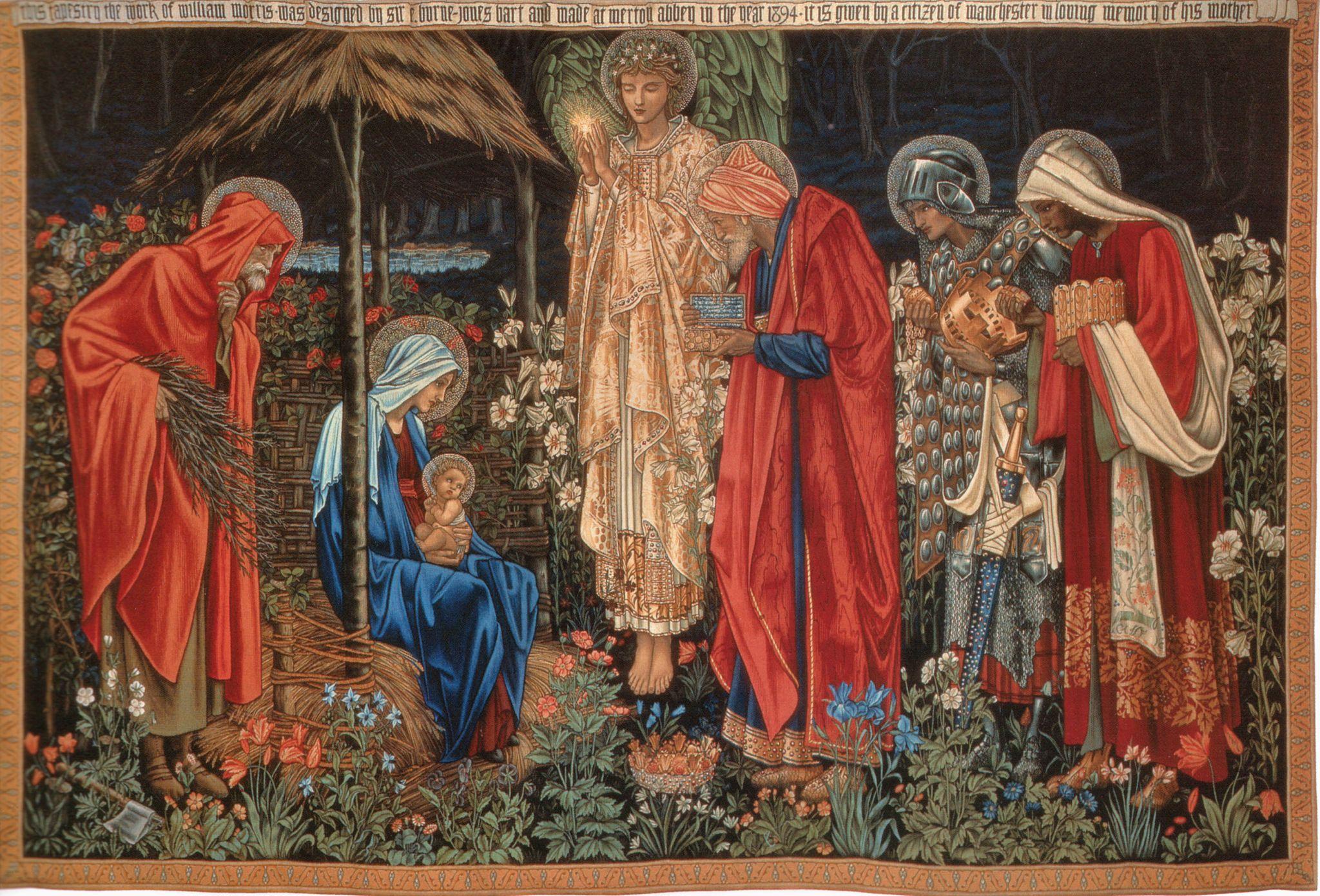 'La Adoración de los Magos' tapiz de Edward Burne-Jones (1833-1898). Diseñado en 1888 y fabricado en 1894.