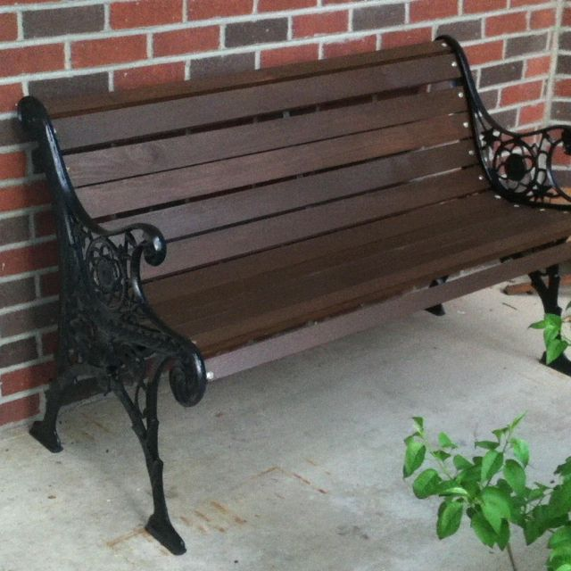 My Newly Refinished Park Bench Park Bench Ideas Garden Bench