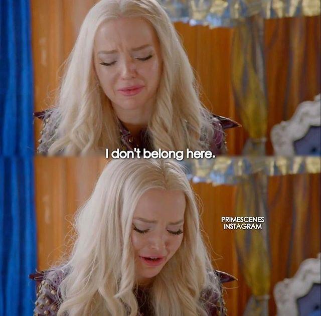 Dove Cameron as Mal I don't belong here! | Descendants 2 | Disney