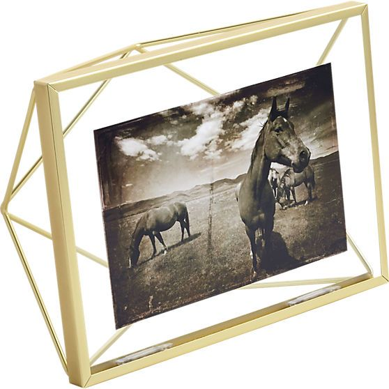 geometric picture frame cb2 modern edgy wire metal pic