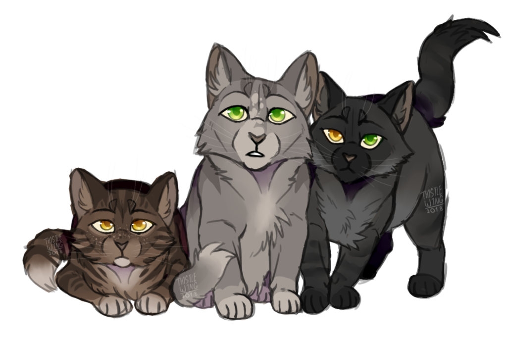 Dovewing and tigerheart's kits by https//th1stlew1ng