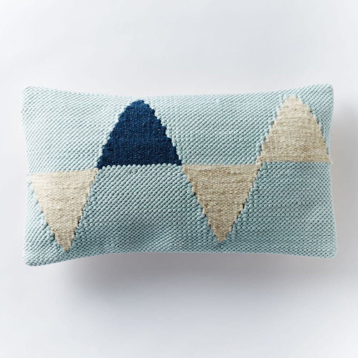 Chindi Triangles Cushion Cover - Pale Harbor