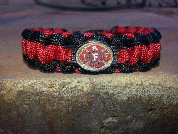 Firefighter Paracord Survival Bracelet By Davesparacords On Etsy