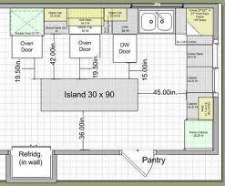 Island Design Traffic Work Triangle Kitchen Designs Layout