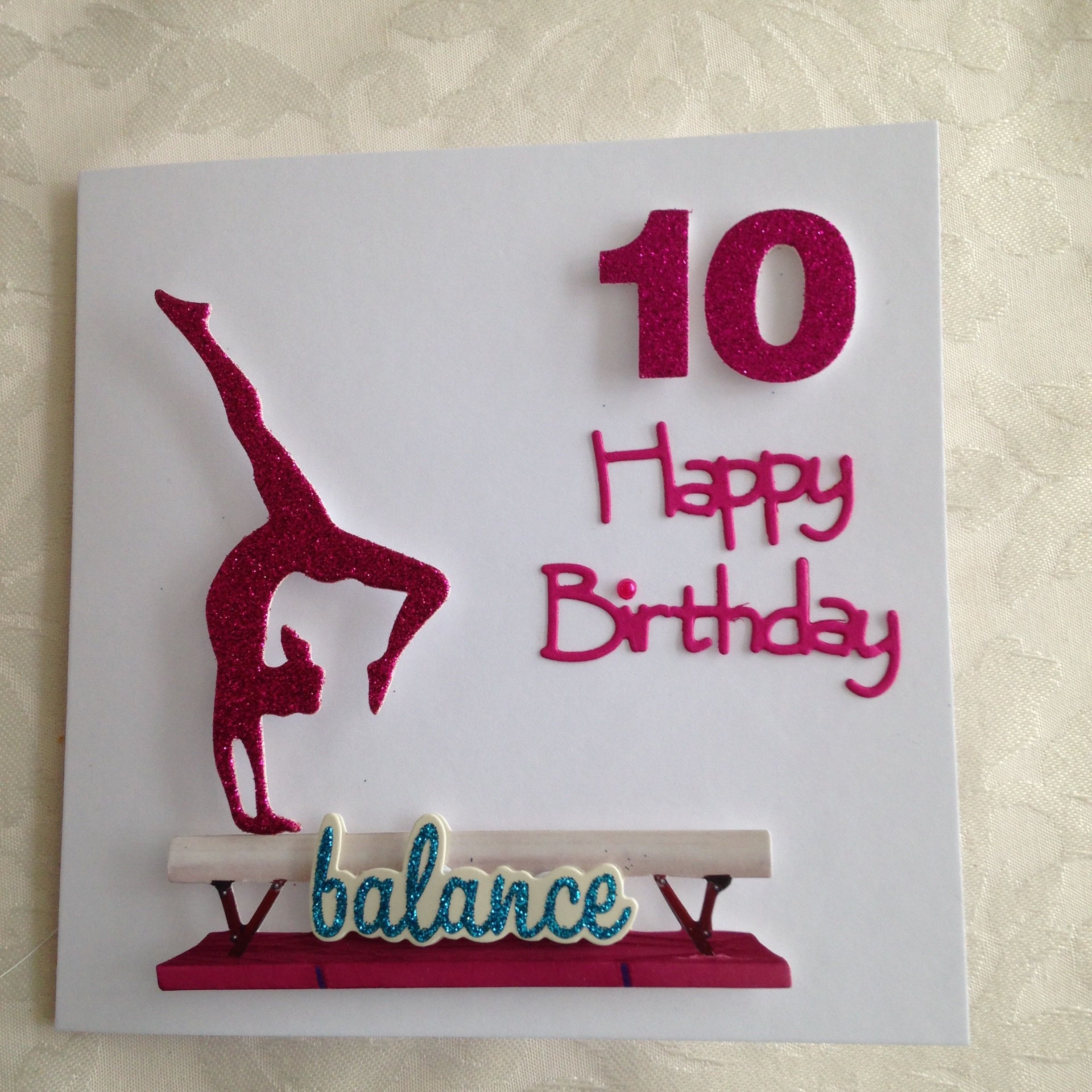 Gymnastics Card With Images Kids Birthday Cards Card Craft