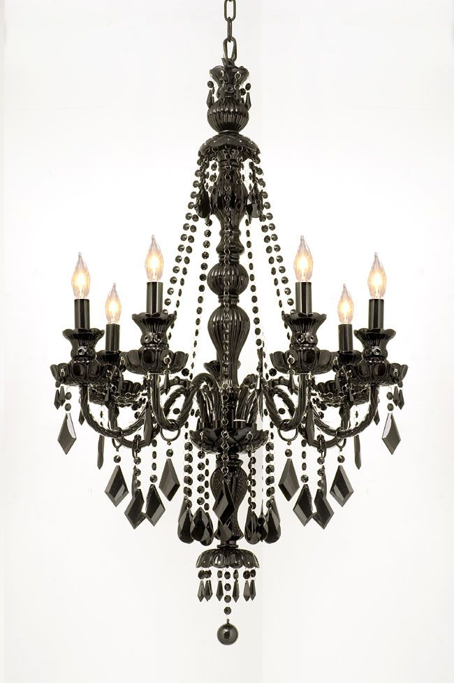 Black crystal chandelier 3 so beautiful but edgy have this in my black crystal chandelier 3 so beautiful but edgy have this in my dining room mozeypictures Image collections