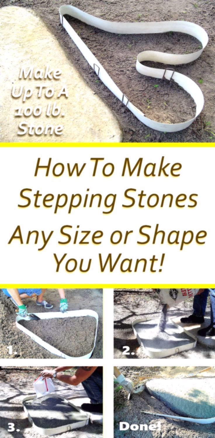 Photo of Learn How To Make Stepping Stones Any Size or Shape You Want! Easy As 1-2-3. No …,  #diygar…