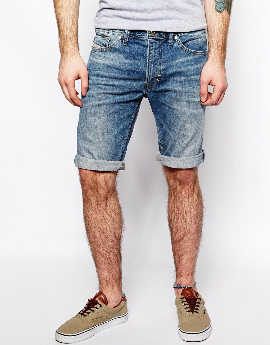 68b341764b Diesel Shorts, Diesel Denim, Jean Shorts, Guys Shorts, Asos, Warm Coat
