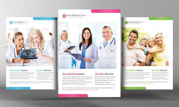 Health Care Flyer Template by Business Templates on - medical brochures templates