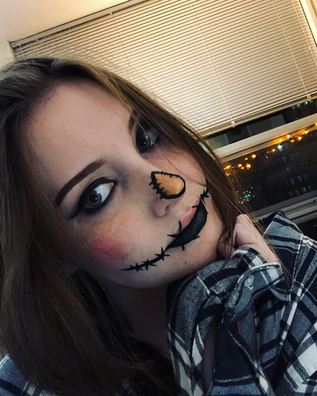 Scarecrow makeup look