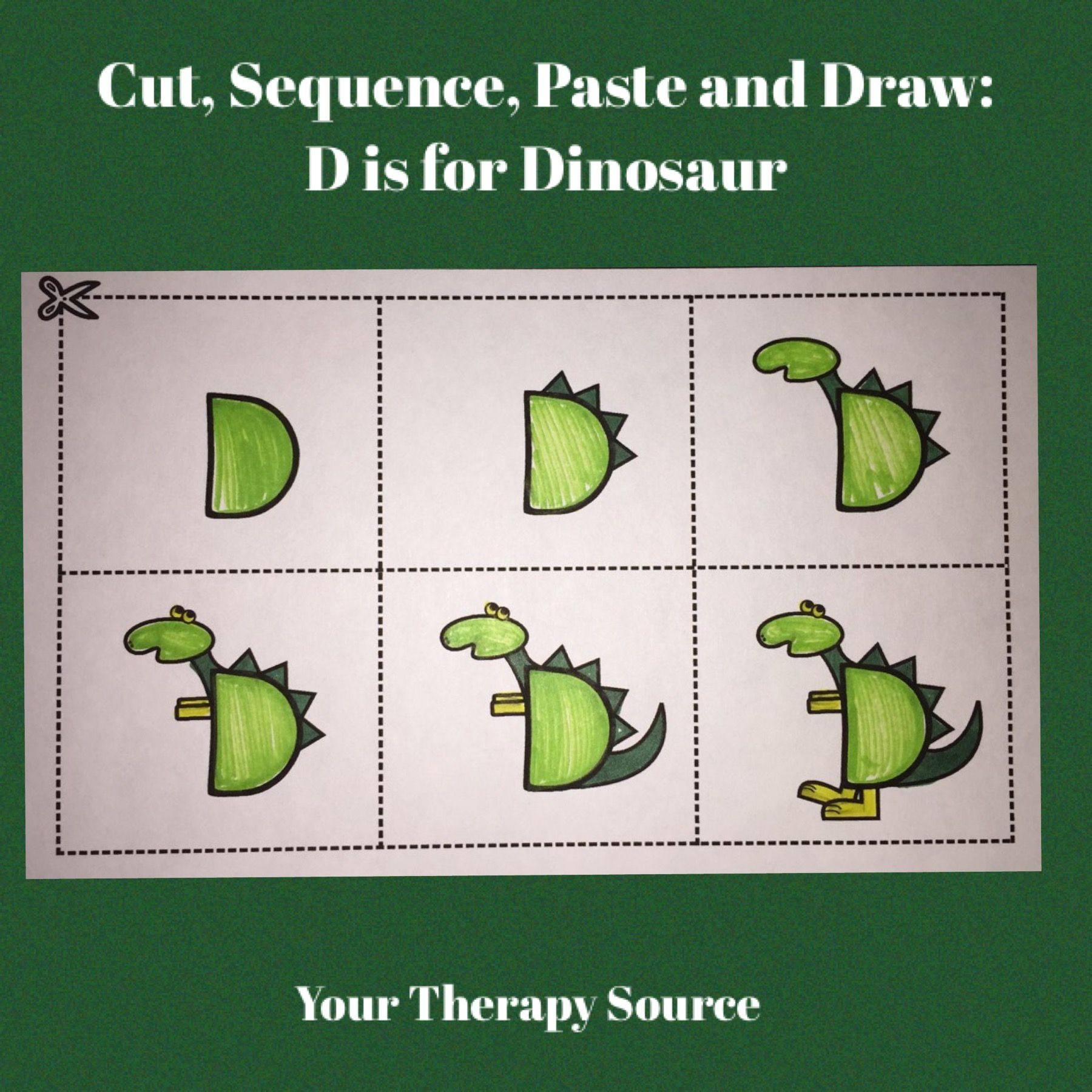 Cut Sequence Paste And Draw Alphabet
