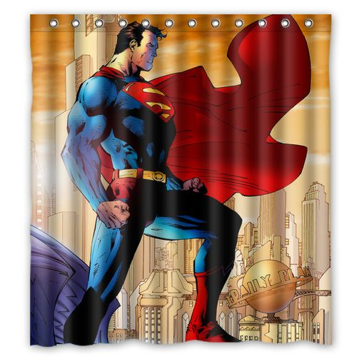 Superhero Superman Shower Curtain In 2020 Superhero Superman