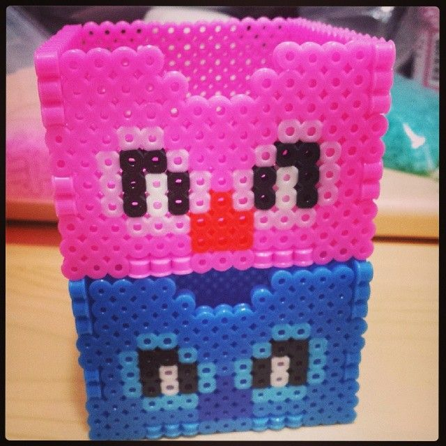 Angel and Stitch boxes perler beads by shirley117