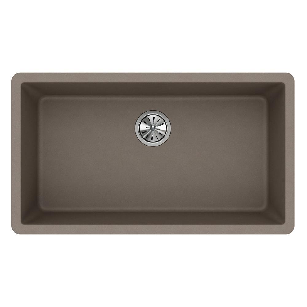 Elkay Quartz Classic Undermount Composite 33 in. Single Basin Kitchen Sink in Greige - ELGRU13322GR0 - The Home Depot