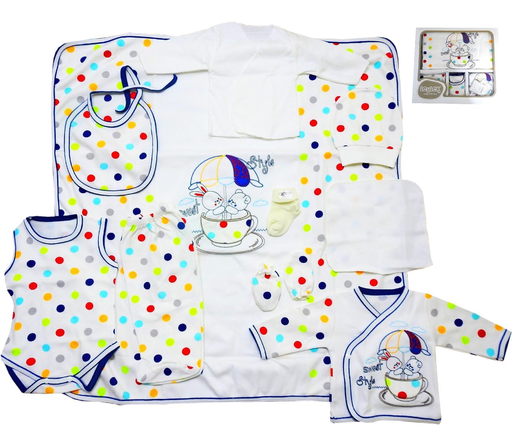 L 9032 Wholesale Rabbit Printed Colourfully Baby Newborn Set 10