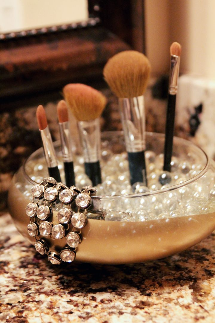 30Minute Dipped Gold Brush Holder Copper diy, Diy