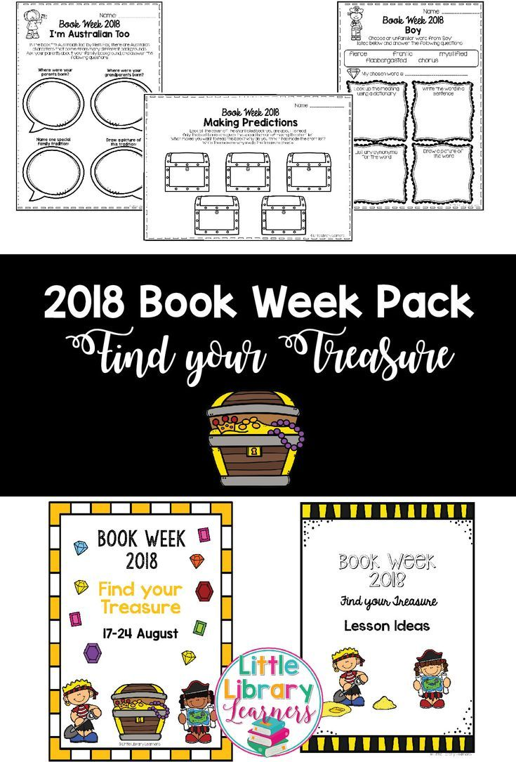 2018 Book Week Pack | Book week, Activities and Library ideas