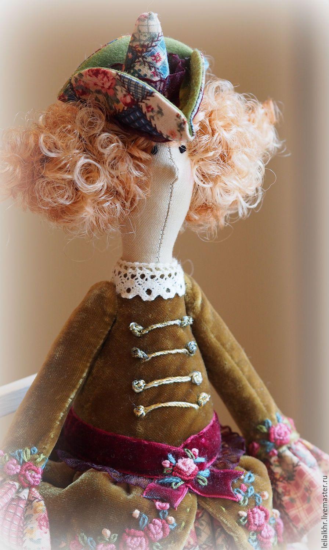 Купить Мадемуазель Моник - разноцветный, кукла ручной работы, кукла, кукла в подарок, кукла интерьерная ♡