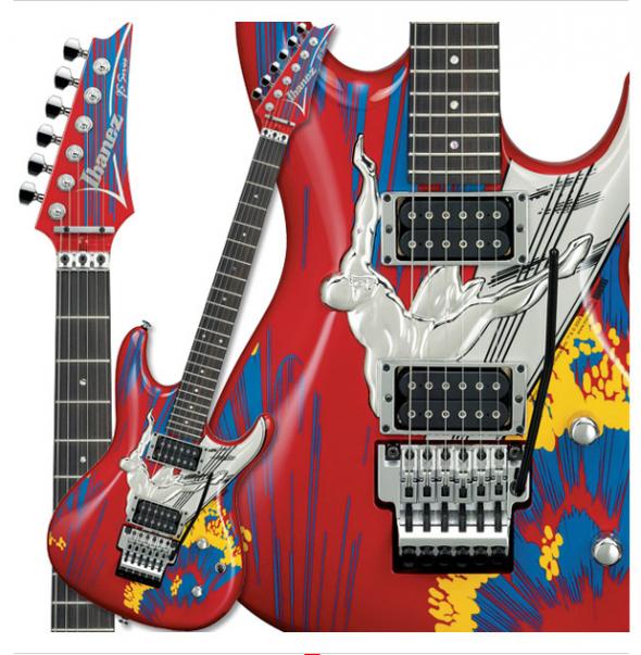 Ibanez Joe Satriani 20th Anniversary Edition Prestige Electric Guitar Red Silver Surfer