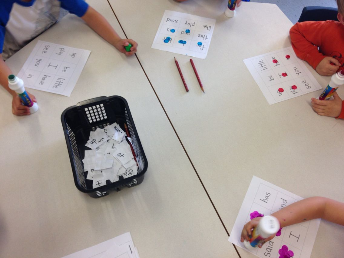 BINGO with our popcorn words!