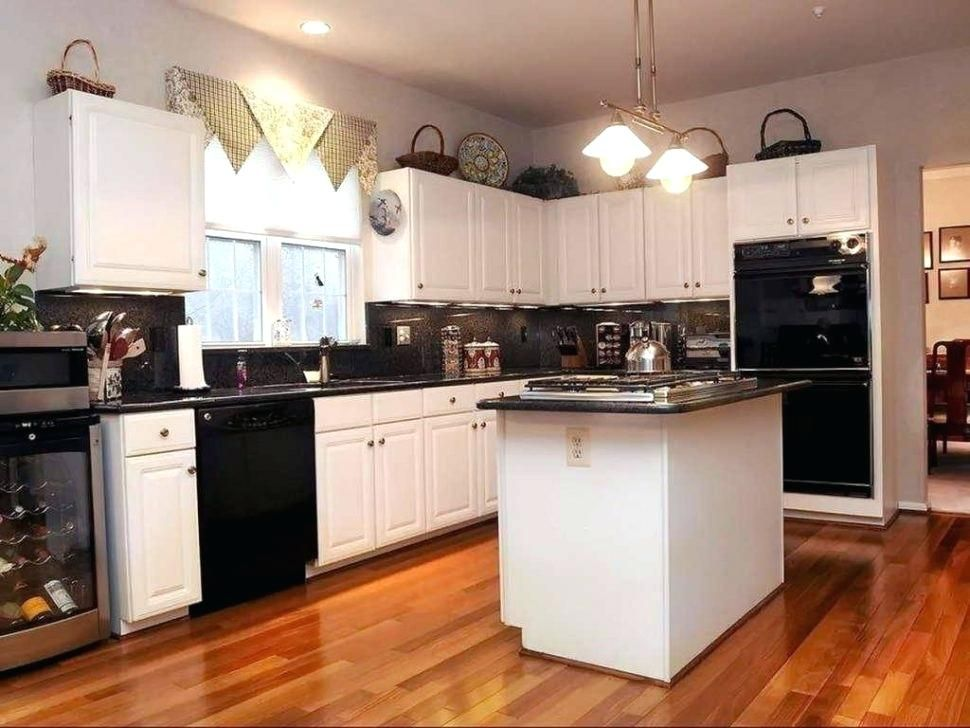 White Cabinets With Black Appliances Opinions Homedecor