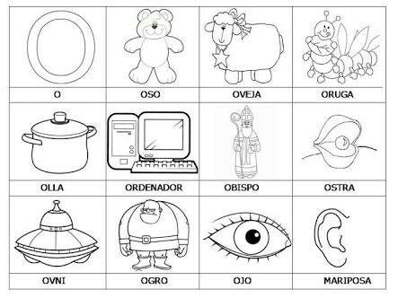 Dibujos Con O Vocales Para Colorear Vocal E Y Abecedario Para Ninos