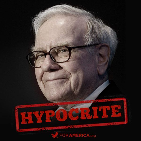 Hypocrite, he owes close to 1 Billion dollars and is fighting the IRS on it, yet cries that his secretary pays more in taxes than he does! He is pals with Obama because it's profitable.