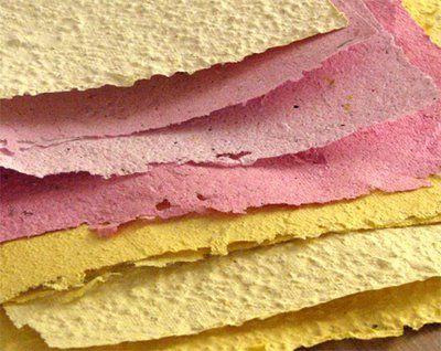 pink yellow handmade paper mixit pinterest