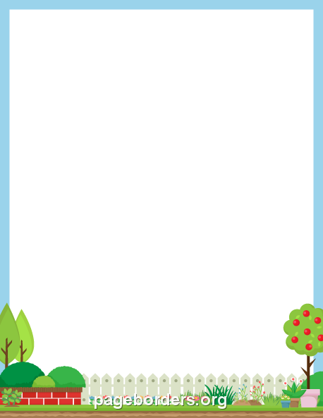 Printable Plant Border Use The In Microsoft Word Or Other Programs For Creating Flyers
