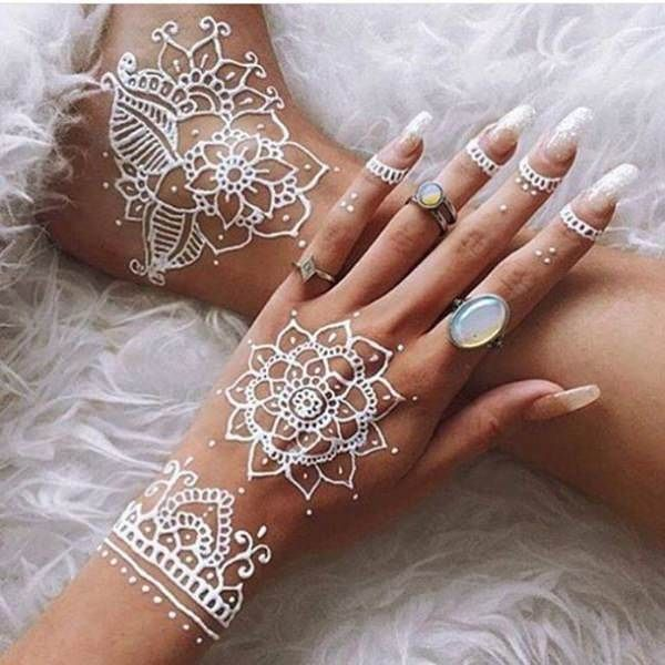 White Ink Henna: 150 Best White Ink Tattoos In The USA This Year (With