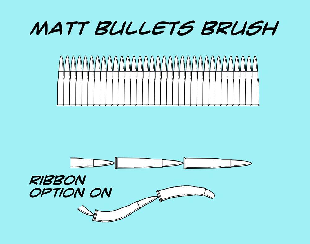 Matt S Bullets Brush For Manga Studio 5 By Toongsteno Manga Studio Clip Studio Paint Brushes Clip Studio Paint