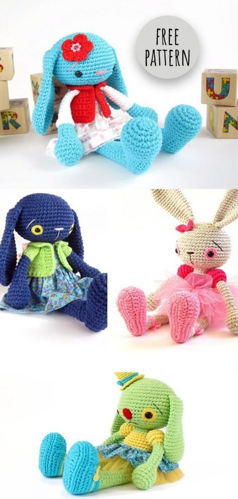 Bunnies Free Pattern   Crochet : animales   Pinterest   Patrones ...