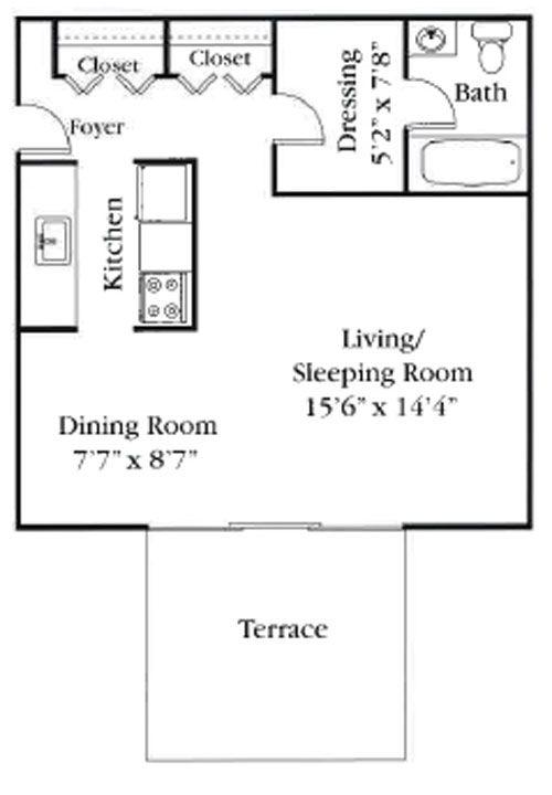 400 Square Foot Apartment Floor Plans - Latest BestApartment 2018