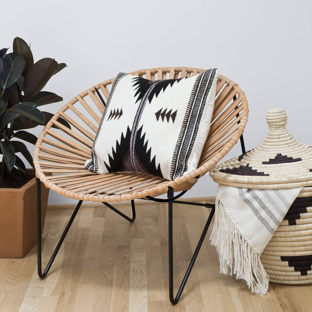 Incredible Aldama Chair Black Natural Acapulco Chair Decor Caraccident5 Cool Chair Designs And Ideas Caraccident5Info