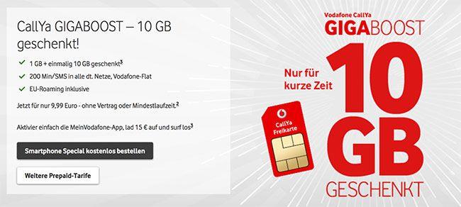 Vodafone Callya Prepaid Mit Bis Zu 2 5gb Lte Eu Roaming Ab 9 99 Surfen App Ubersicht