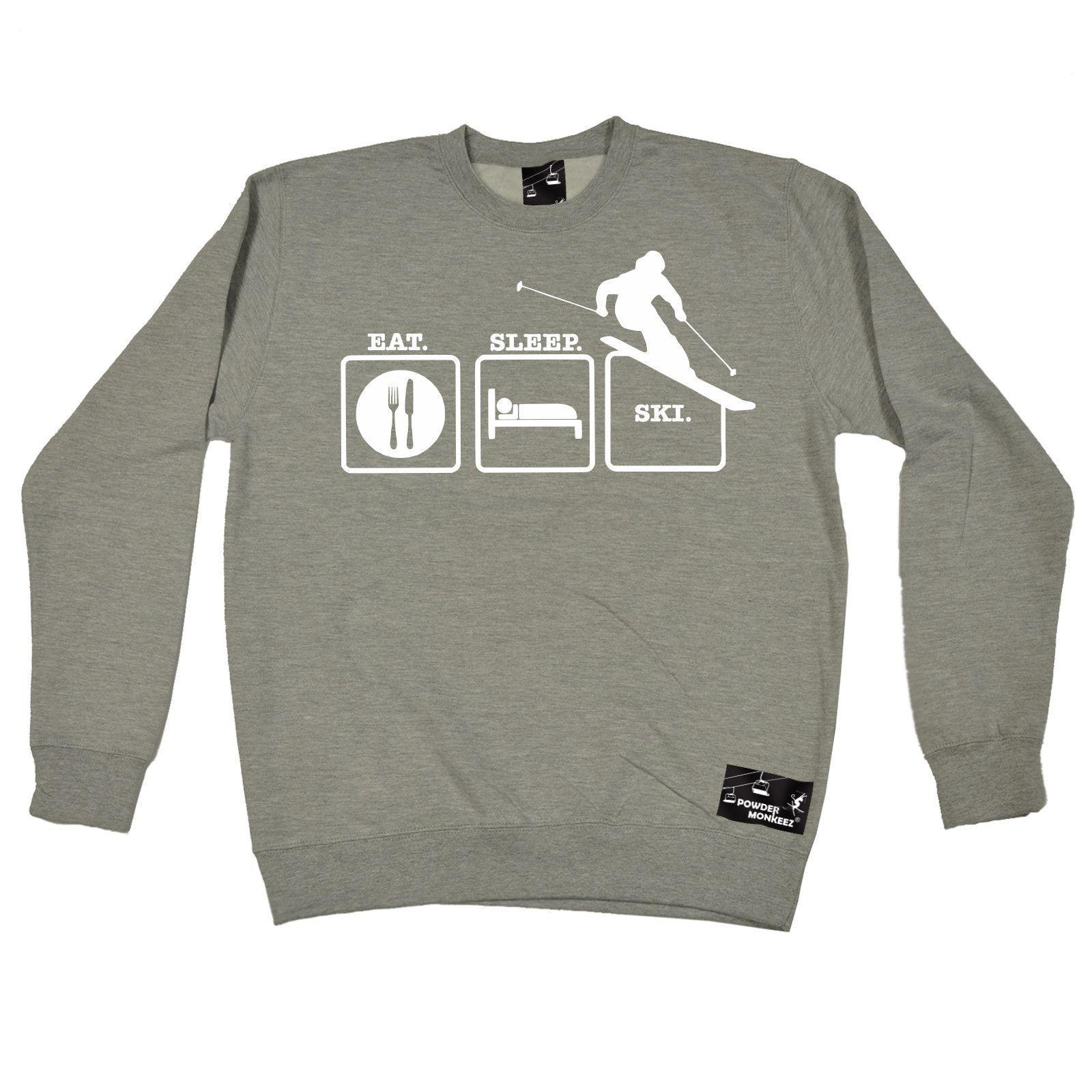 Powder Monkeez Eat Sleep Ski Skiing Sweatshirt