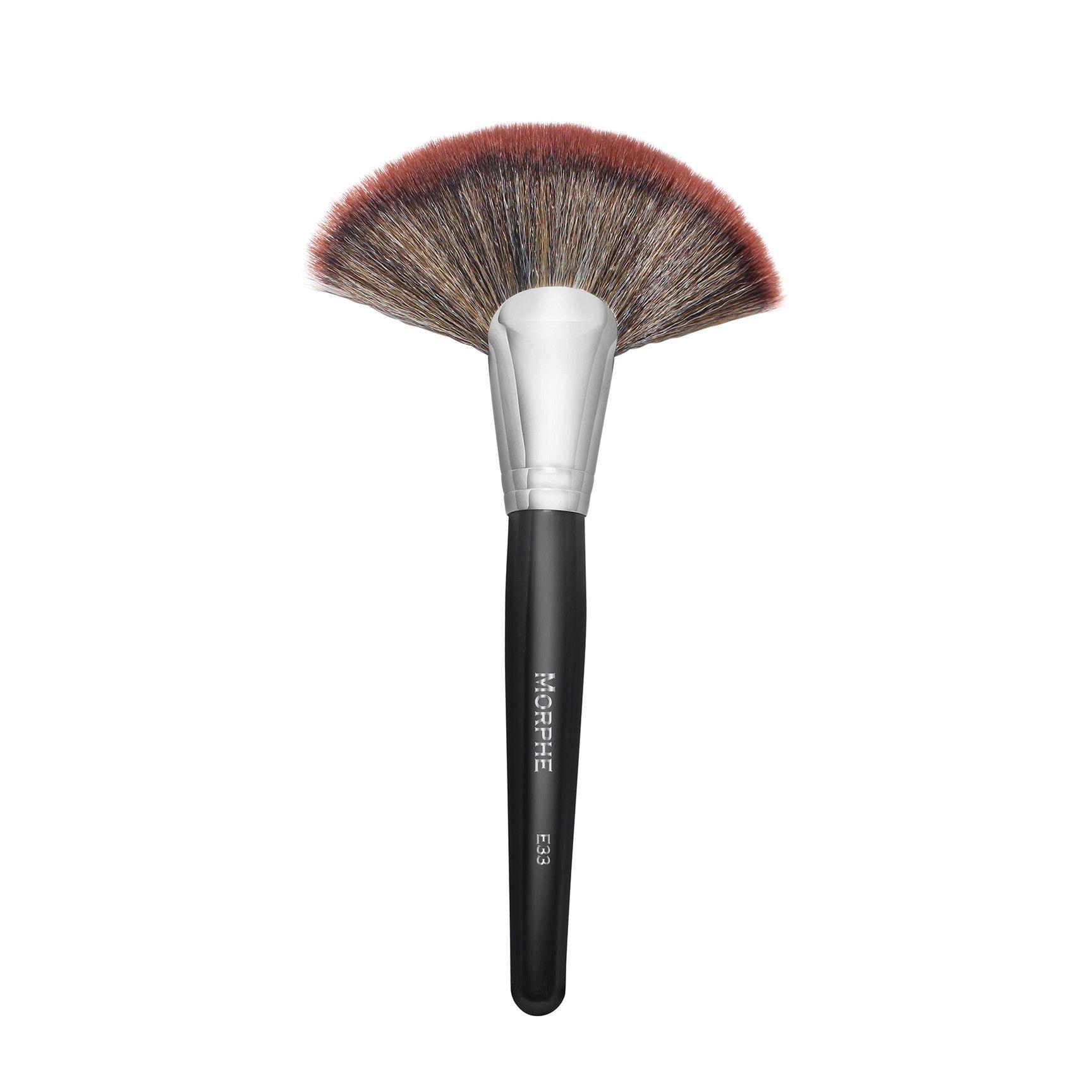 E33 Deluxe Fan Fan Brush Makeup Morphe Highlighter Brush