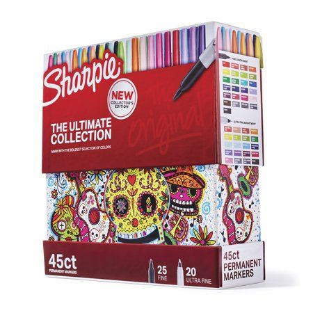 Sharpie Permanent Markers Fine And Ultra Fine Tips 45 Count