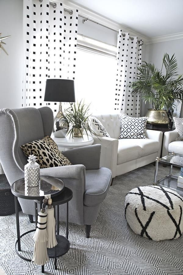 Cozy black and white living room design ideas 00019 ...