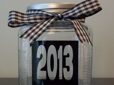 I love the idea of a jar for memories throughout the year.  Read at the beginning of the new year...