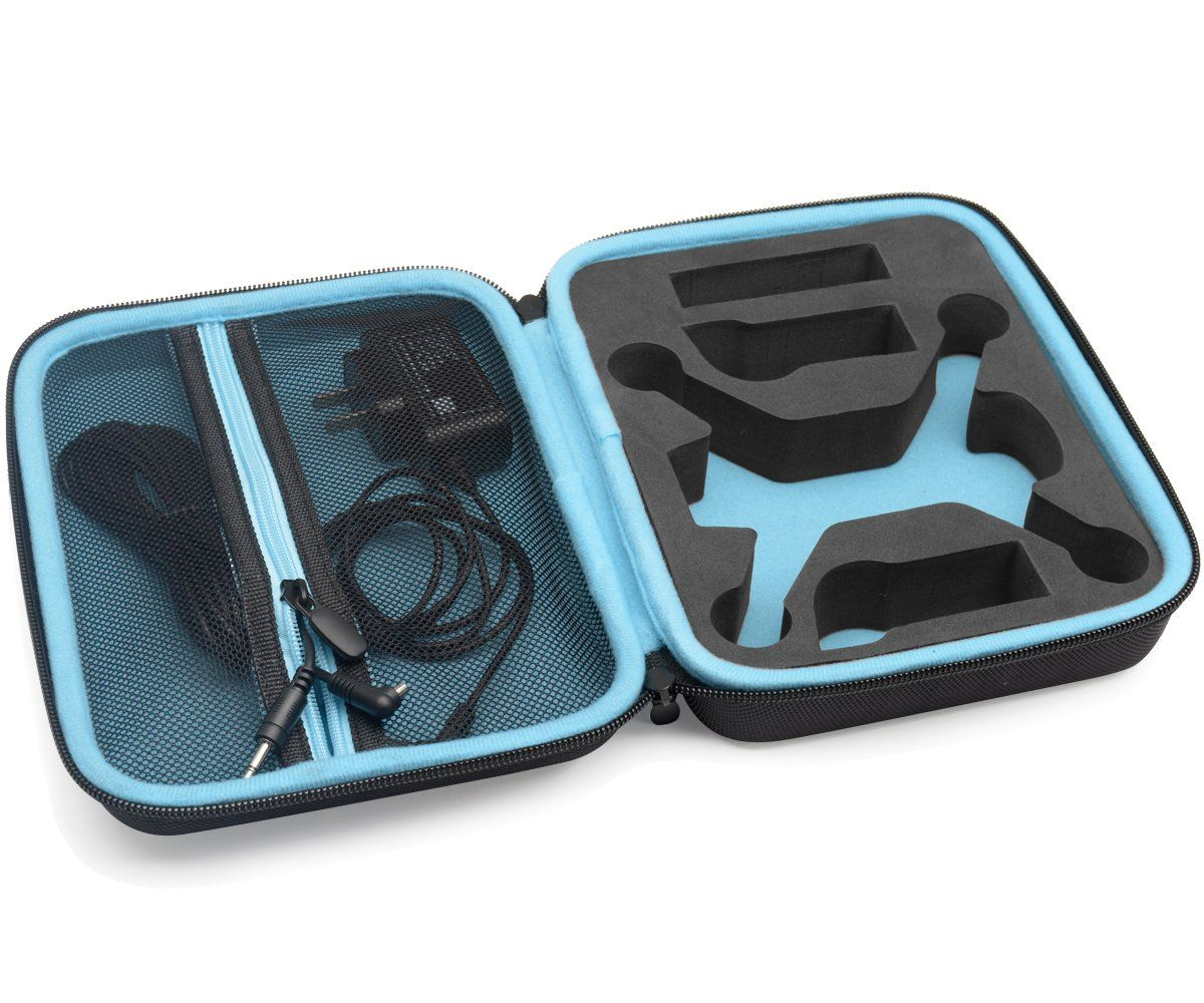 Casesack Designed Protection Case For Dji Spark Mini Quadcopter Sky Blue Drone Slots Extra Batteries And Propellers