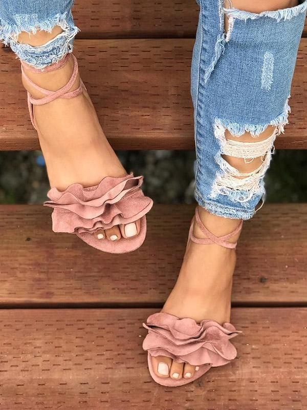 47e0475b5 Flower Bandage Sandals Shoes For Women – 8 Banana