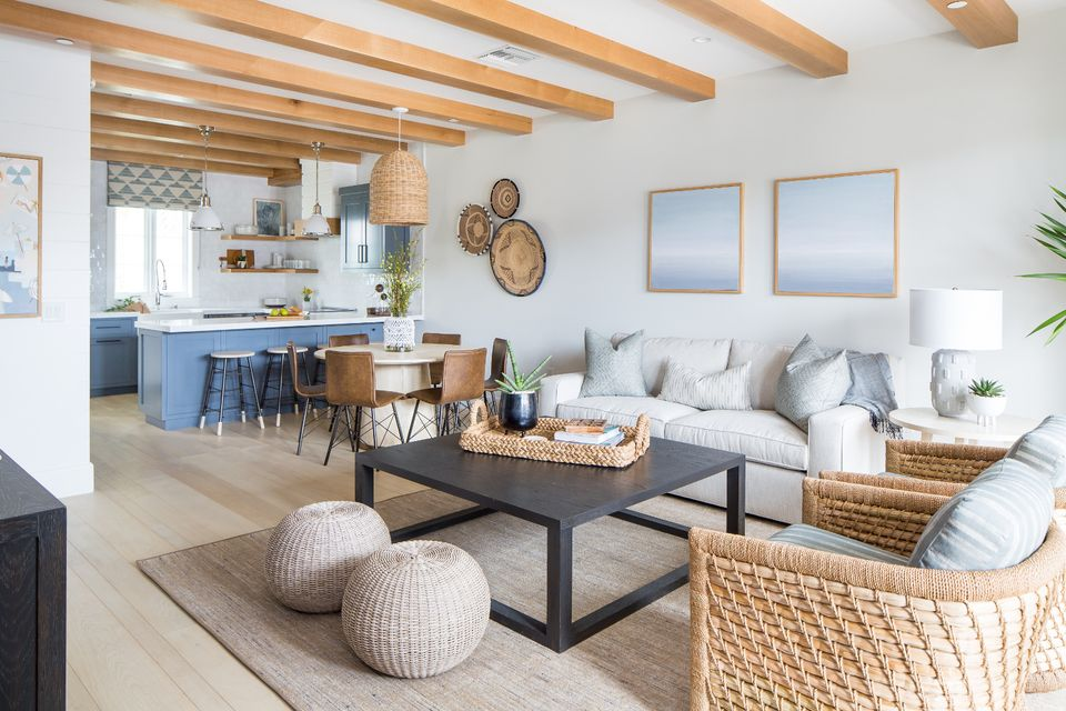 Home Tour A Layered Coastal Vibe In A New Condo Cuisine Beauteous Home Decorating Blog Plans