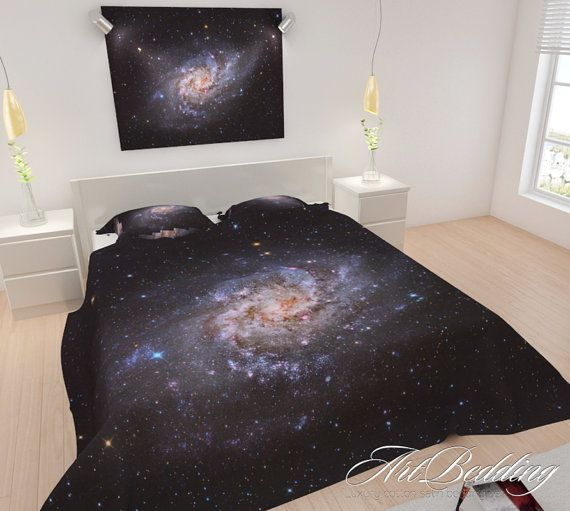 Galaxy bedding, I might use something like this