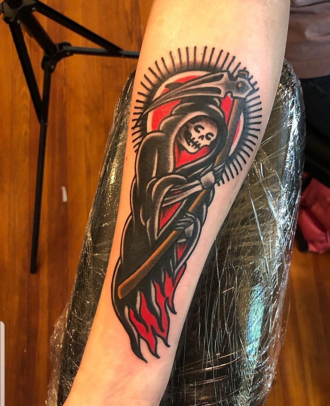 American Traditional Grim Reaper : american, traditional, reaper, Tattoos