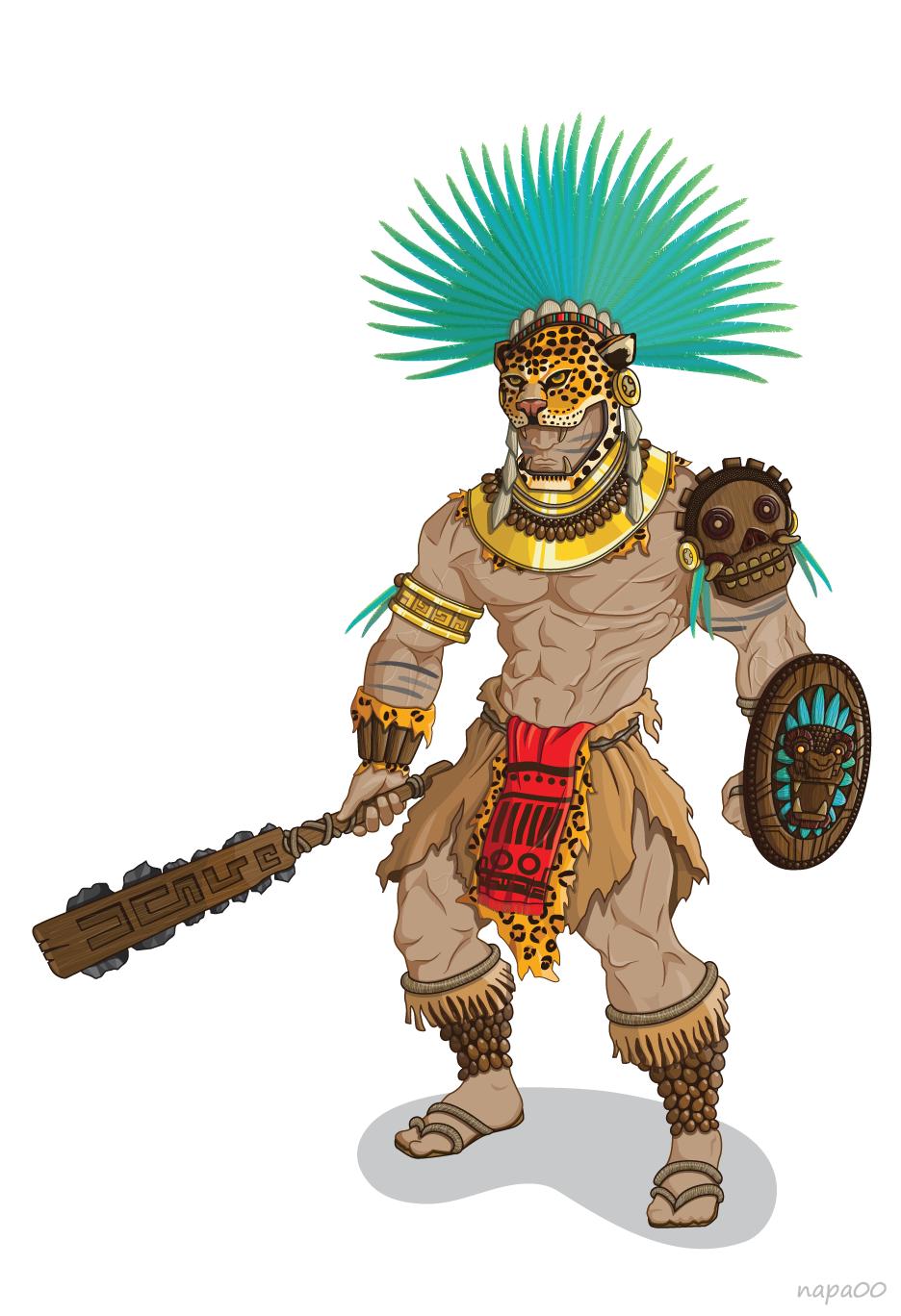 Guerrero Jaguar Ilustración vectorizada. Braulio Barboza Miranda. |  Guerreros jaguar, Aztecas dibujos, Guerrero azteca