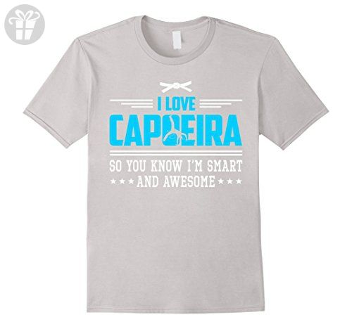 Mens I Love Capoeira I'm Smart Awesome Funny Shirt Gift 3XL Silver - Funny shirts (*Amazon Partner-Link)